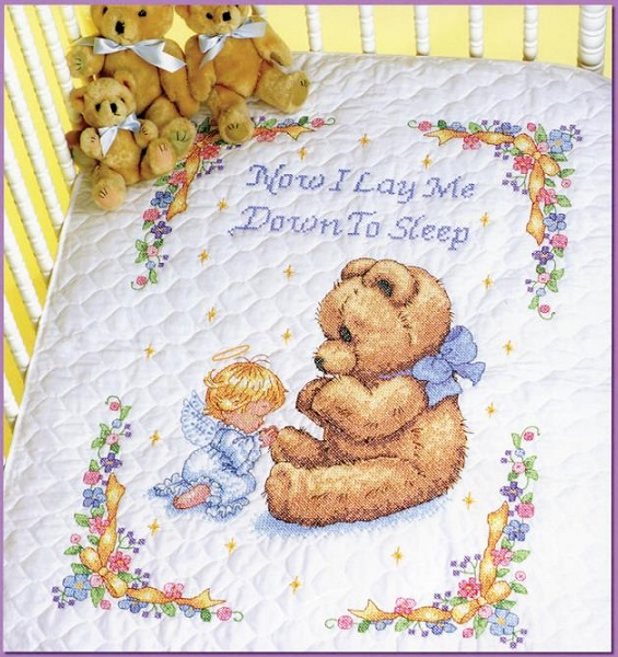 click here to view larger image of Sweet Prayer Quilt (stamped cross stitch kit)