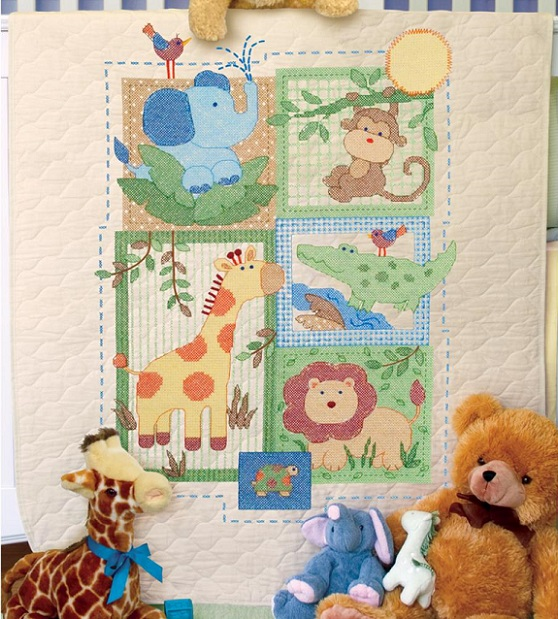 click here to view larger image of Savannah Quilt (stamped cross stitch kit)