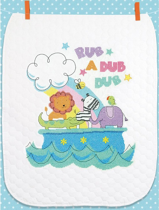 click here to view larger image of Rub-A-Dub Quilt (stamped cross stitch kit)
