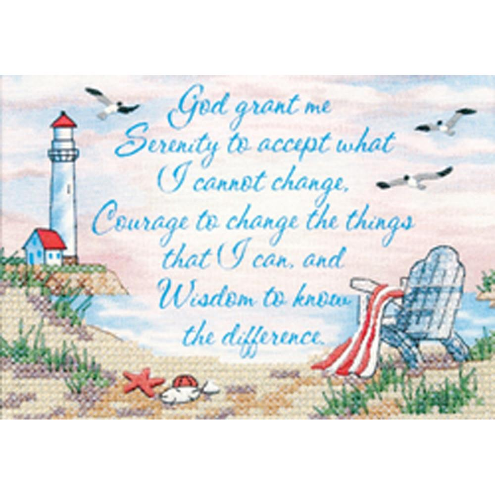 click here to view larger image of Serenity Prayer Mini (stamped cross stitch kit)