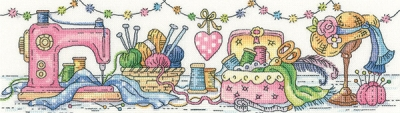 click here to view larger image of Sewing Room, The (27ct kit) (counted cross stitch kit)