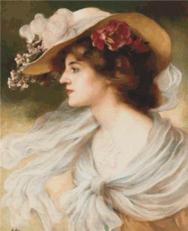 click here to view larger image of Une Elegante au Chapeau (chart)