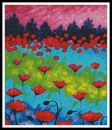 click here to view larger image of Dancing Poppies (Crop) (chart)