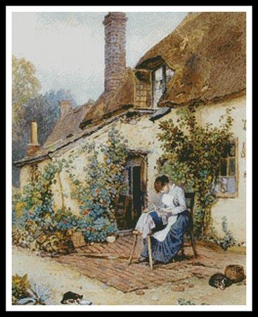 click here to view larger image of Lace Maker, A  (Myles Birket Foster) (chart)