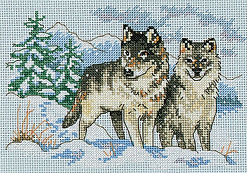 click here to view larger image of Pair of Wolves, A (counted cross stitch kit)