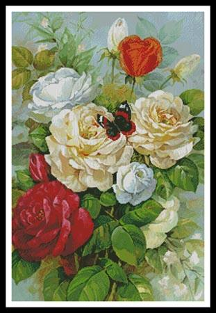 click here to view larger image of Butterfly And Roses (chart)