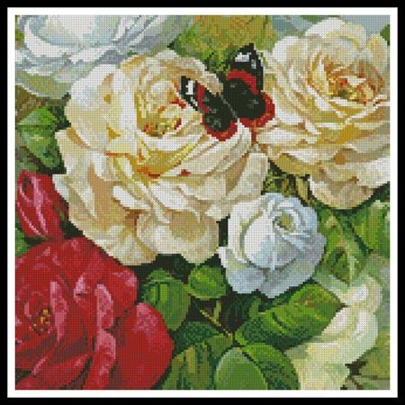 click here to view larger image of Butterfly And Roses (Crop) (chart)
