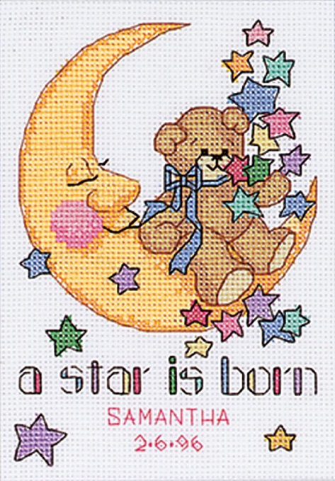 click here to view larger image of Star is Born, A (counted cross stitch kit)