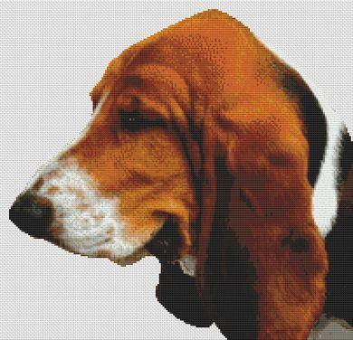click here to view larger image of Tri-Colored Basset Hound (chart)