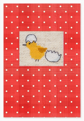 click here to view larger image of Hatching Chick Card (counted cross stitch kit)
