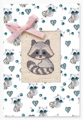 click here to view larger image of Raccoon Card (counted cross stitch kit)