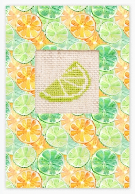 click here to view larger image of Lime Card (counted cross stitch kit)