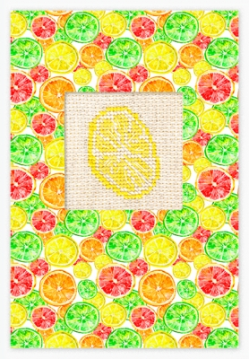 click here to view larger image of Lemon Card (counted cross stitch kit)