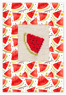 click here to view larger image of Watermelon Card (counted cross stitch kit)