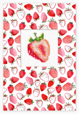 click here to view larger image of Strawberry Card (counted cross stitch kit)