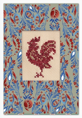 click here to view larger image of Rooster Card (counted cross stitch kit)