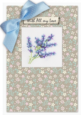 click here to view larger image of Lilacs Card (counted cross stitch kit)
