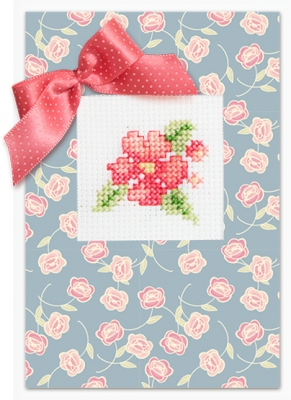 click here to view larger image of Flowers Card (counted cross stitch kit)