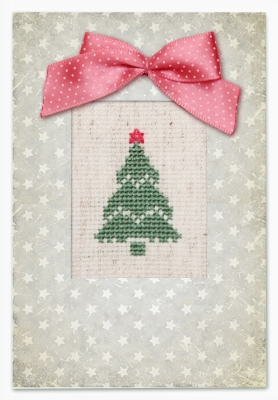 click here to view larger image of Christmas Tree Card (counted cross stitch kit)