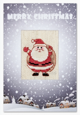 click here to view larger image of Santa Claus Card (counted cross stitch kit)