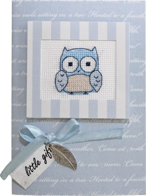click here to view larger image of Owl Card (counted cross stitch kit)