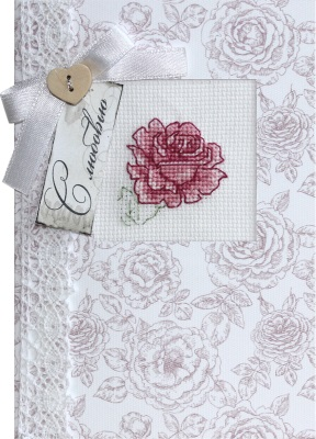 click here to view larger image of Rose Card (counted cross stitch kit)