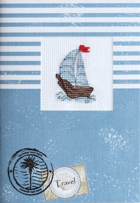 click here to view larger image of Sailboat Card (counted cross stitch kit)