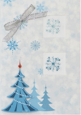 click here to view larger image of Snowflake Card (counted cross stitch kit)