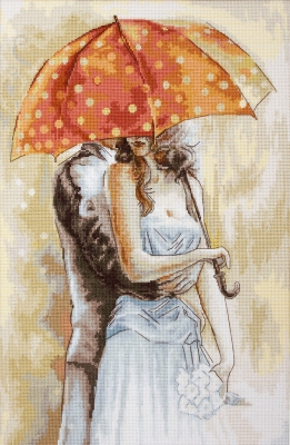 click here to view larger image of Under Umbrella 2 (counted cross stitch kit)
