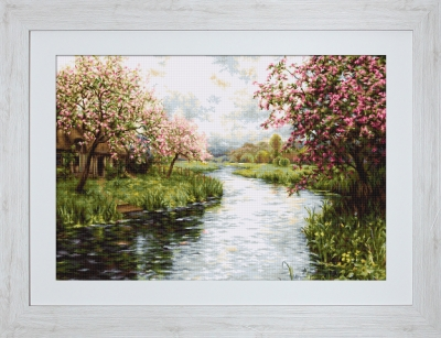 click here to view larger image of Spring Landscape (counted cross stitch kit)