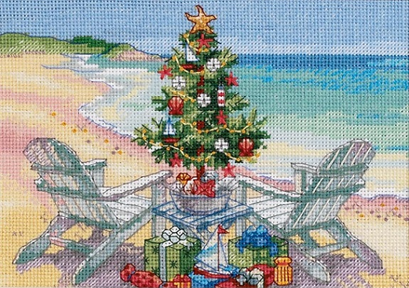 click here to view larger image of On the Beach (counted cross stitch kit)
