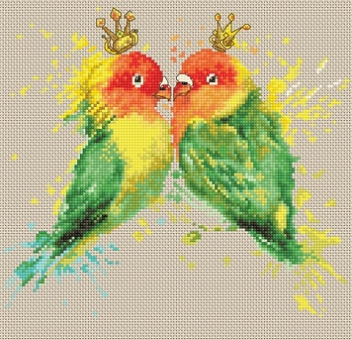 click here to view larger image of Parrots, The (counted cross stitch kit)
