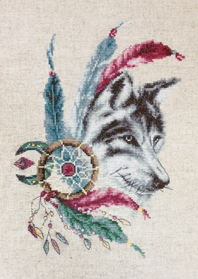 click here to view larger image of Wolf, The (counted cross stitch kit)