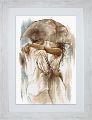 click here to view larger image of Under Umbrella (counted cross stitch kit)
