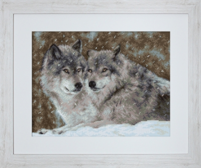 click here to view larger image of Wolves (counted cross stitch kit)