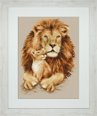 click here to view larger image of Lion (counted cross stitch kit)