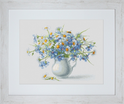 click here to view larger image of Cornflowers And Chamomiles (counted cross stitch kit)