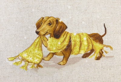 click here to view larger image of Dachshund (counted cross stitch kit)