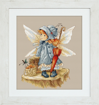 click here to view larger image of Fairy With An Umbrella, The (counted cross stitch kit)