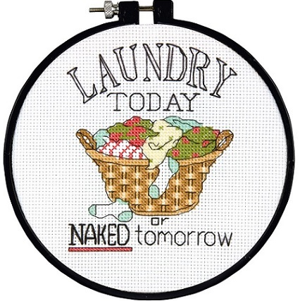 click here to view larger image of Laundry Today - Learn a Craft (counted cross stitch kit)