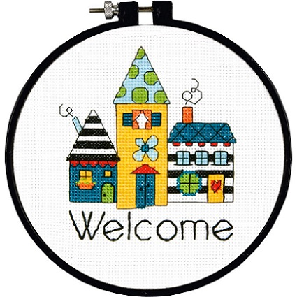 click here to view larger image of Welcome - Learn a Craft (counted cross stitch kit)