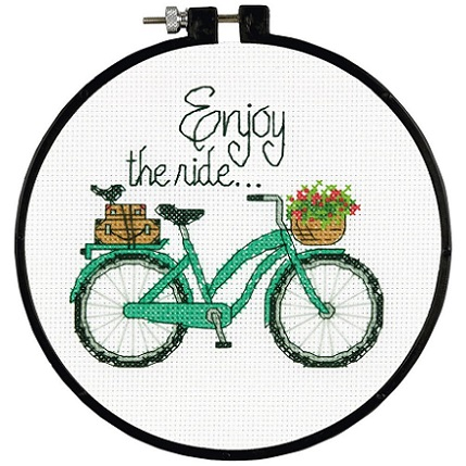 click here to view larger image of Enjoy The Ride - Learn a Craft (counted cross stitch kit)