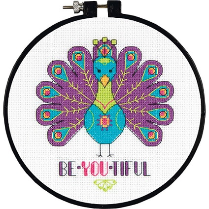 click here to view larger image of You Are Beautiful - Learn a Craft (counted cross stitch kit)