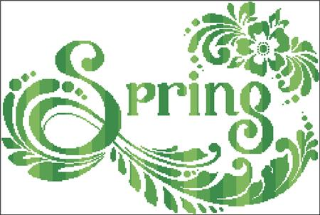 click here to view larger image of Spring Silhouette (chart)
