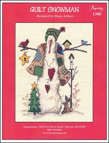 click here to view larger image of Quilt Snowman (chart)