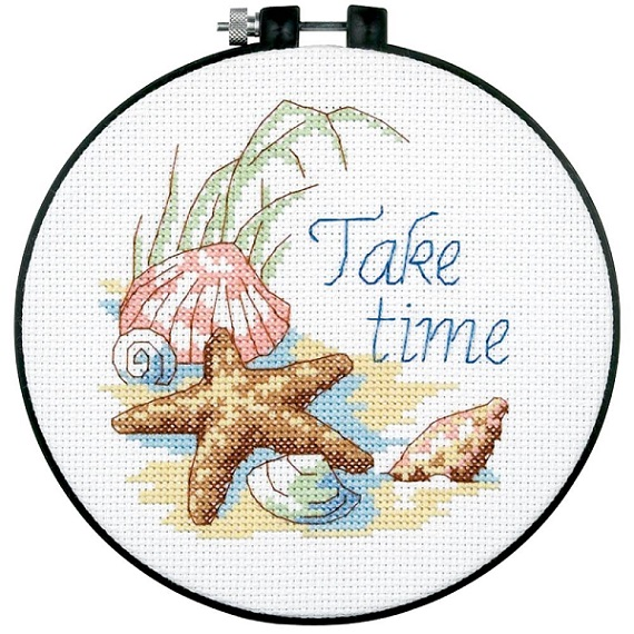 click here to view larger image of Take Time - Learn A Craft (counted cross stitch kit)