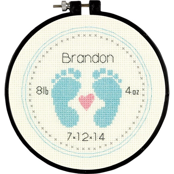 click here to view larger image of Baby Footprints - Learn A Craft (counted cross stitch kit)