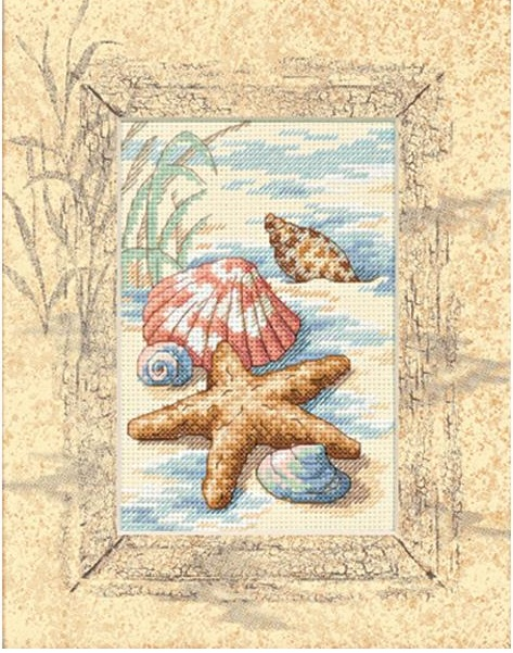 click here to view larger image of Shells In The Sand - Matted Accents (counted cross stitch kit)