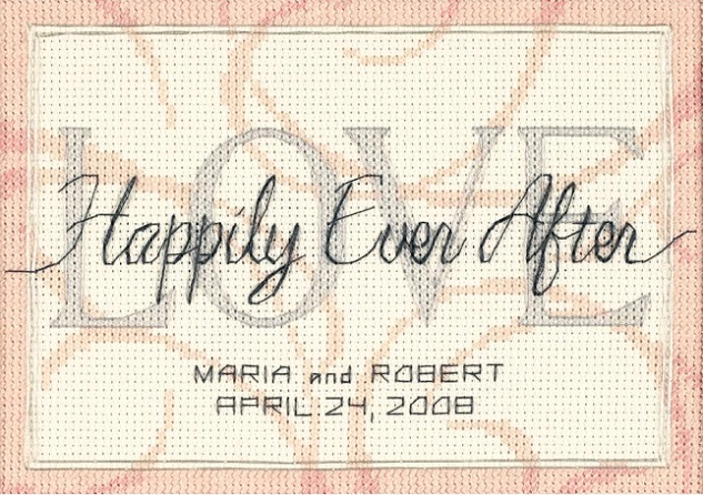 click here to view larger image of Happily Ever After Wedding Record (counted cross stitch kit)