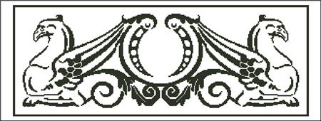 click here to view larger image of Griffin Pair Silhouette (chart)